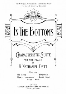 "Cover to ""In The Bottoms"" sheet music from 1913"